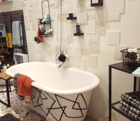 Une salle de bain » Retro Moderne «