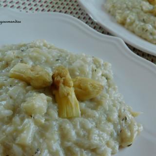 Ma recette de printemps : le risotto aux asperges blanches et au thym.