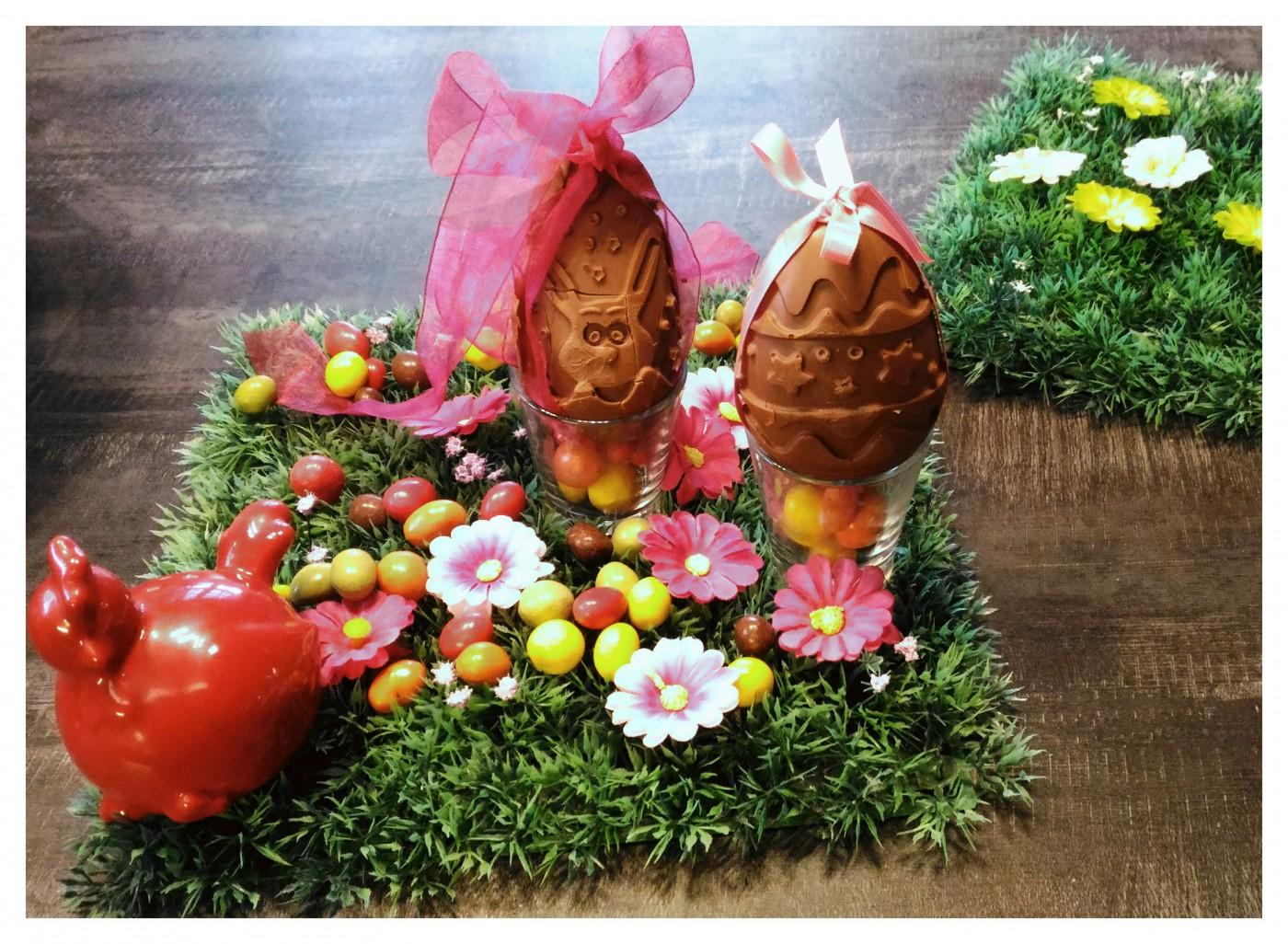 Oeufs de Pâques en chocolat façon Kinder