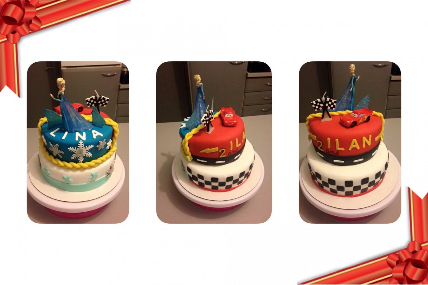 Gâteau double thèmes