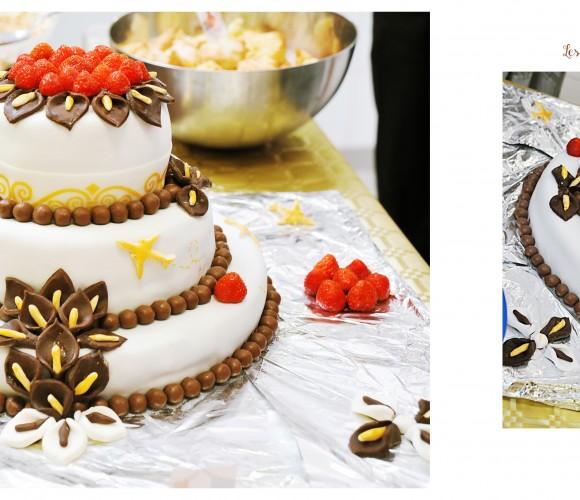 Wedding cake voyage gourmand
