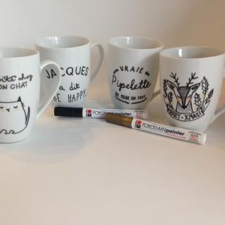 Les feutres pour la porcelaine