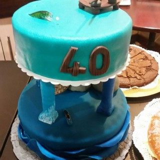 Cake design - Les 40 ans du cousin pêcheur