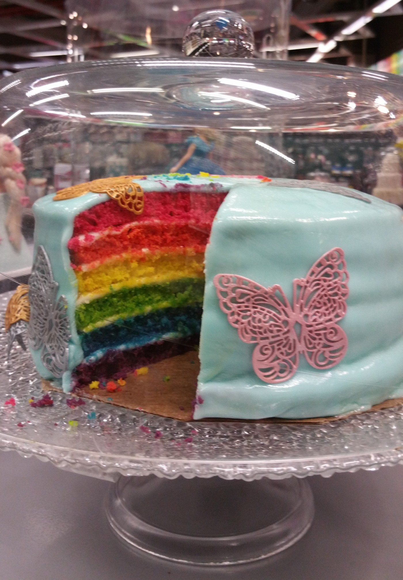 Rainbow cake avec le kit scapcooking