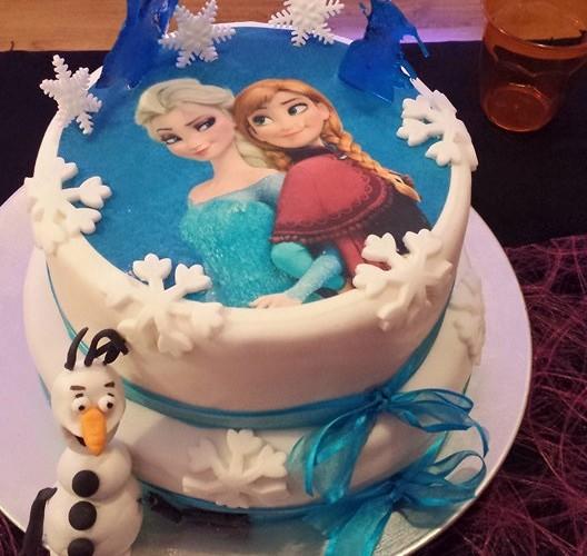 Cake design la reine des neiges
