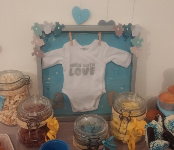 Une déco de baby shower faite maison