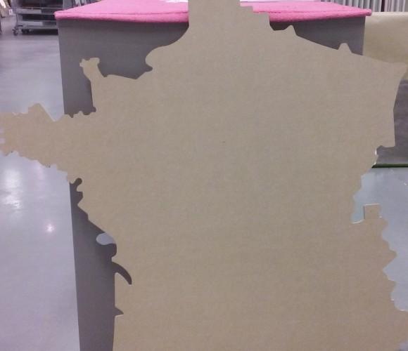 J'ai testé pour vous la carte de France géante 84x90cm