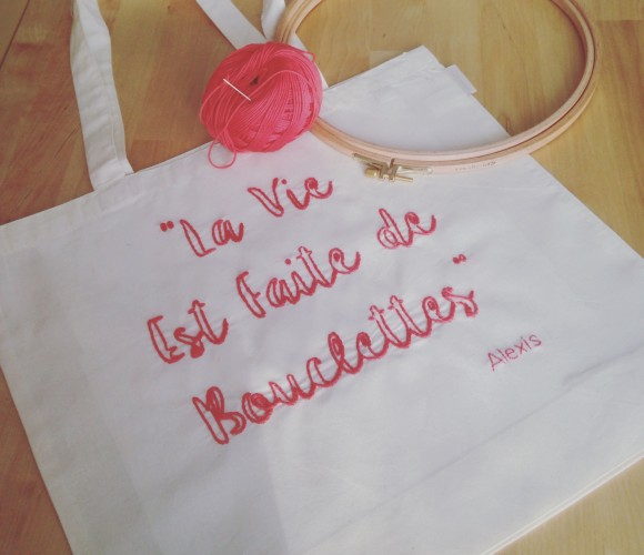 BRODERIE – Personnalise ton Tote Bag :)