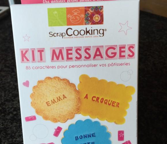 J'ai testé pour vous le Kit message ScrapCooking