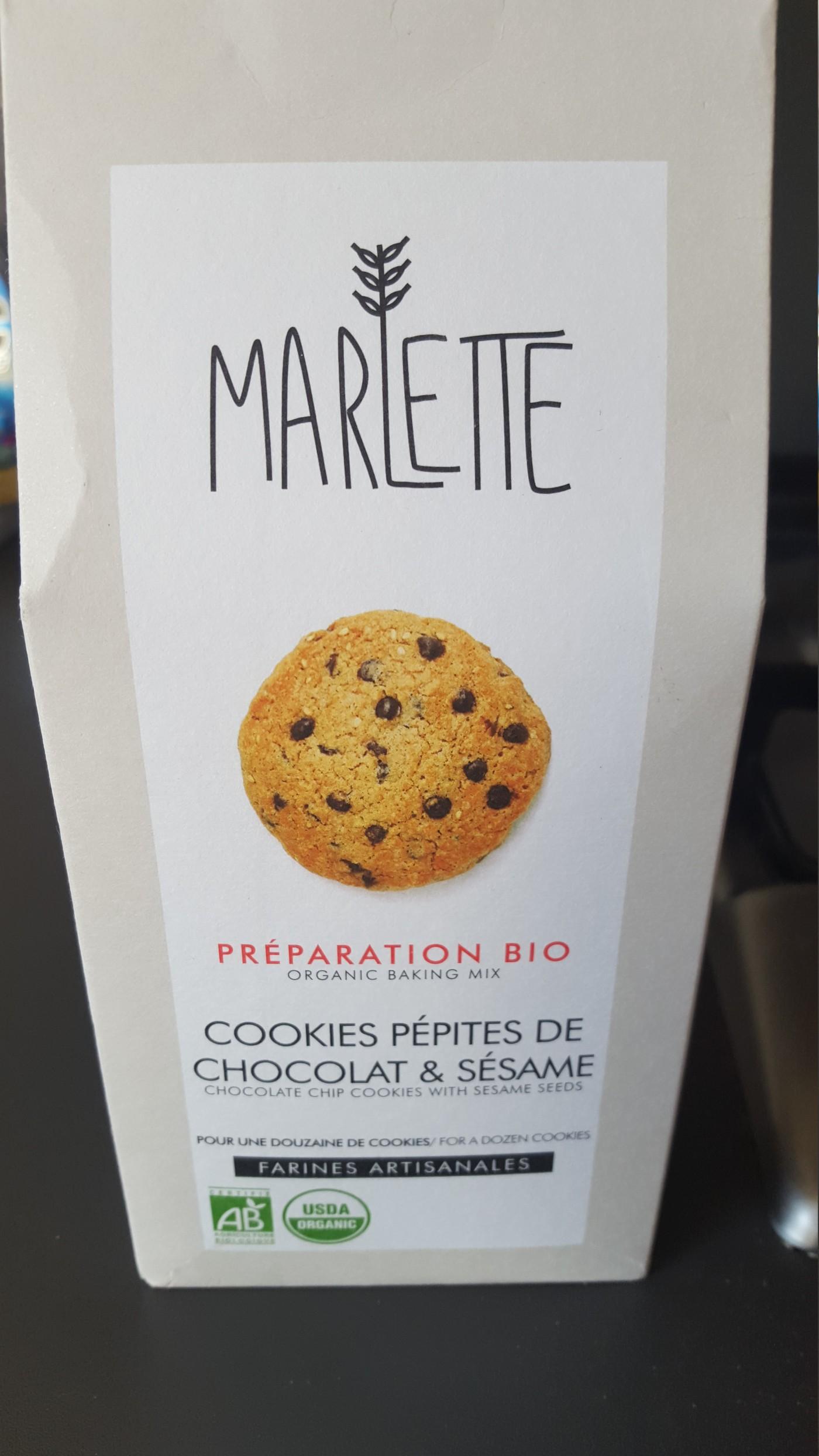 J'ai testé pour vous les cookies pépites de chocolat et sésame bio