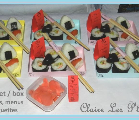43 – Création de box déjeuner en papier carton pour réveillon japonais (Décembre 2012 – bricolage?!)