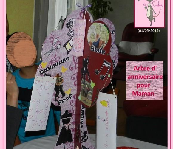 47 – Arbre à souvenirs, bons cadeaux et colliers l'anniversaire de Maman (Avril 2015 – Collage, perles, bricolage etc)