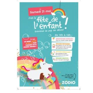 La Fête de l'enfant, samedi 21 mai à ZODIO Clermont-Fd