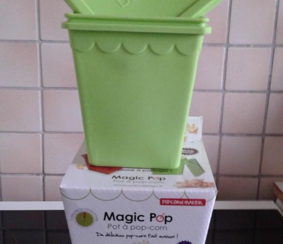 La boîte «Magic Pop» pour faire des pop'corns au Micro-ondes