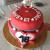 Cake design rouge
