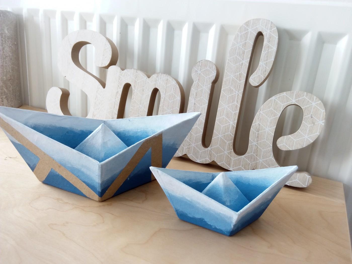 Customisation de bateau en origami