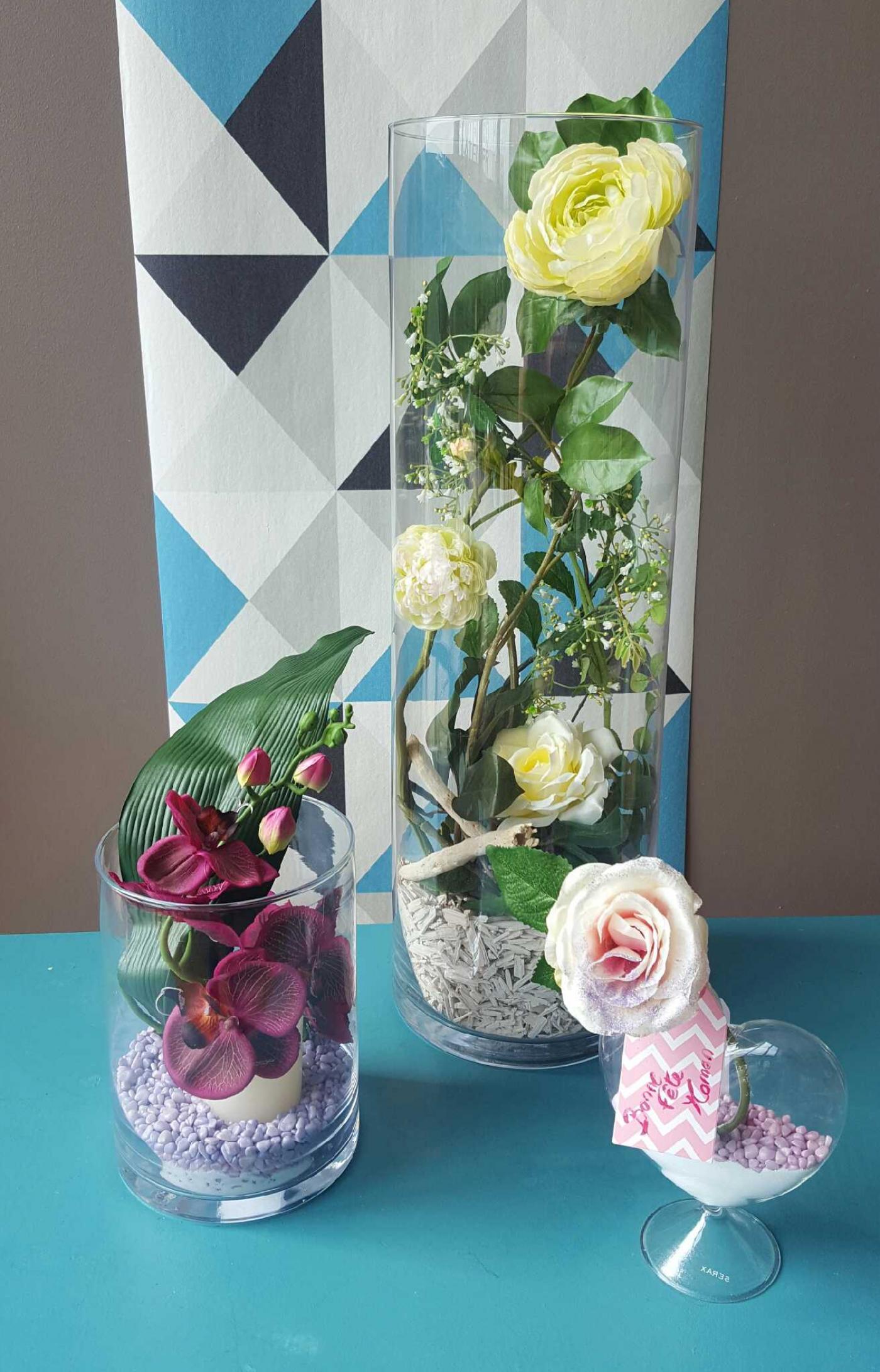 J'ai choisi pour ma maman une composition florale