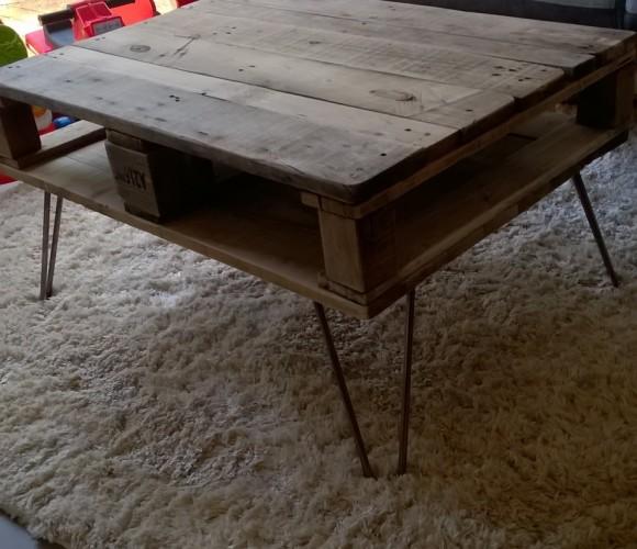 table basse a partir de palettes