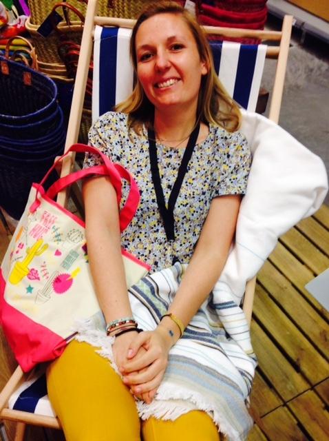 J'ai choisi pour ma maman une fouta avec son sac de plage