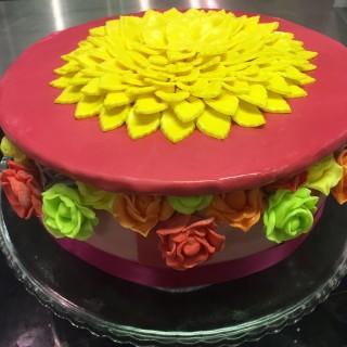 Cake design : jolie boîte à fleurs
