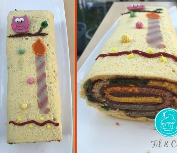 Gâteau d'anniversaire Arc en Ciel