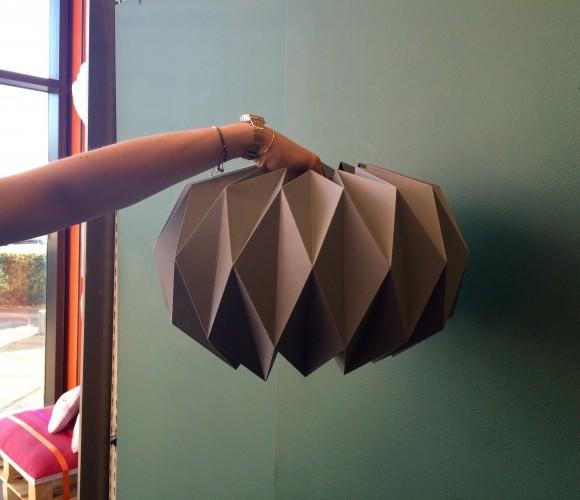 J'ai testé pour vous l'atelier déco créa : lampe origami