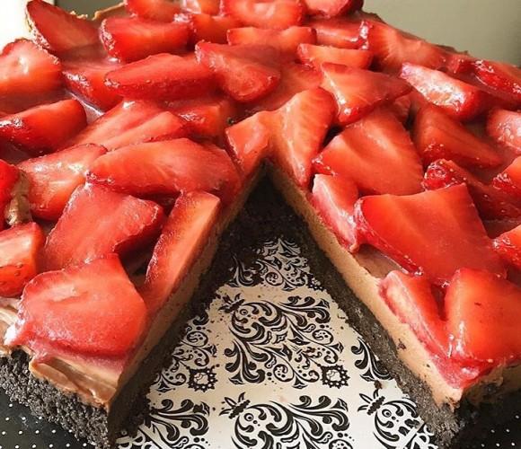 Tarte aux fraises en croûte d'Oréo