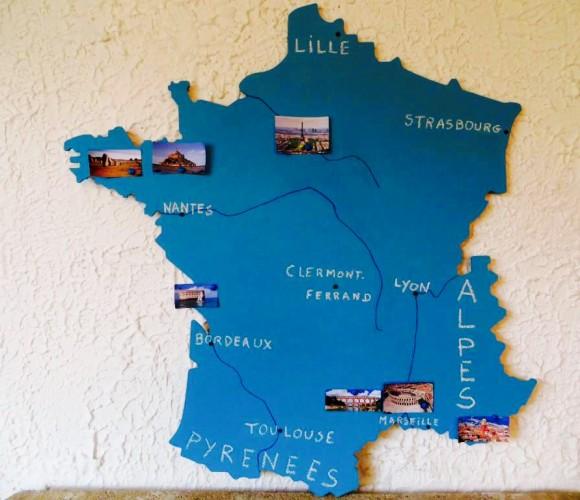 Ma carte de France géante en tableau craie magnétique