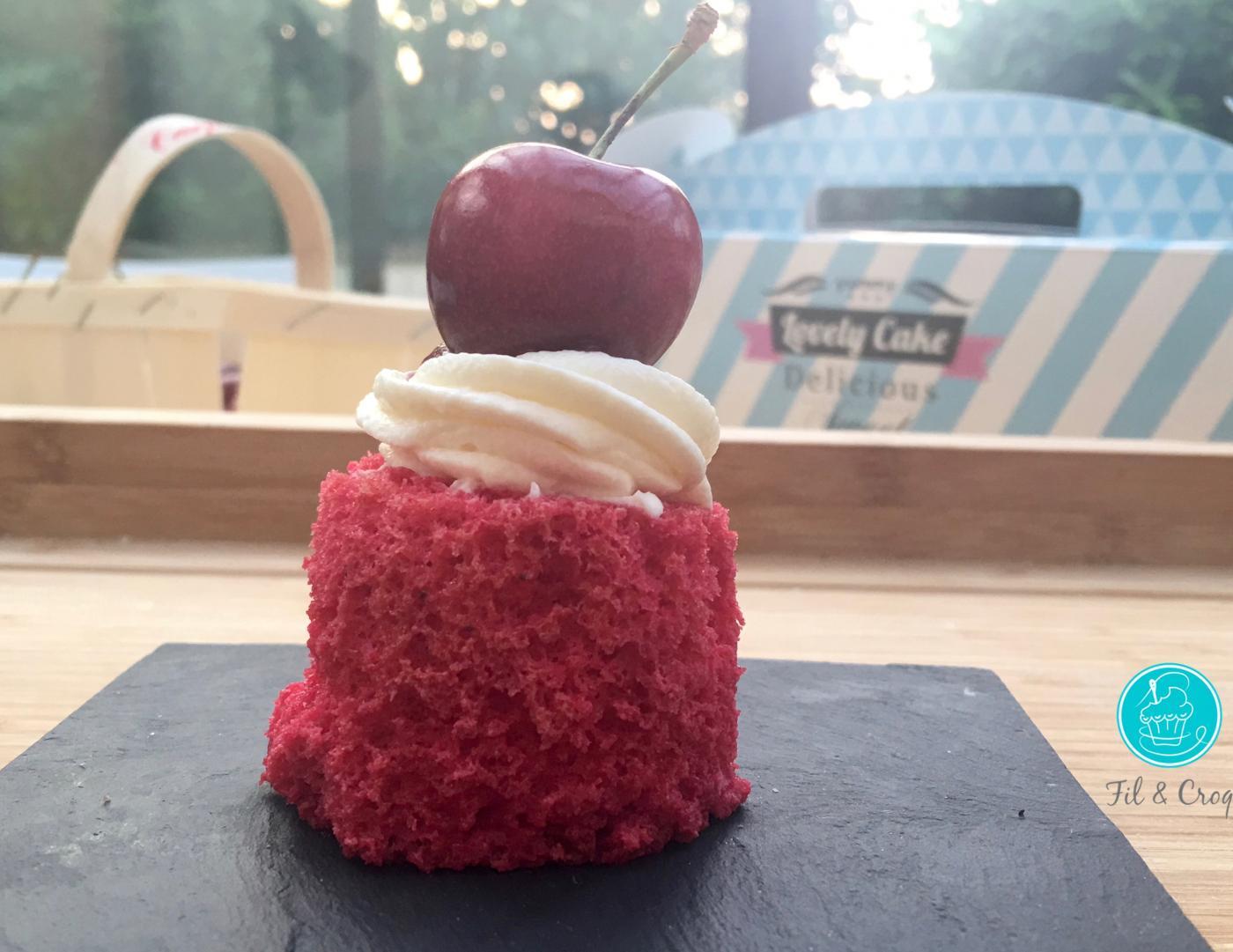 Mon Angel Cake à la rose et la cersise