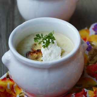 Velouté glacé d'asperges blanches