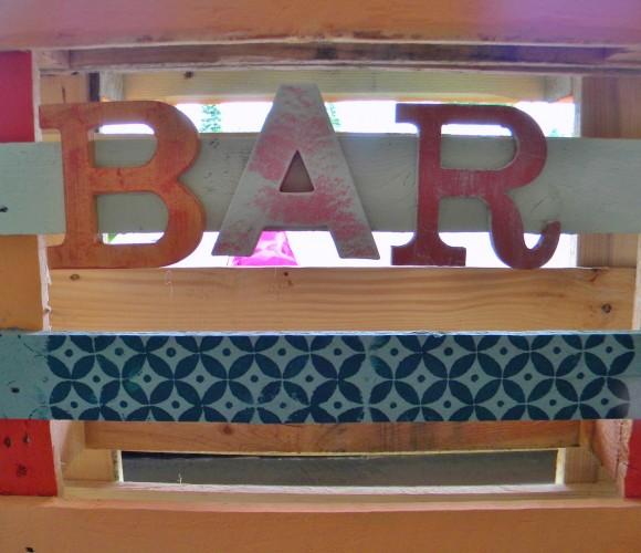 Bar d'été en palettes