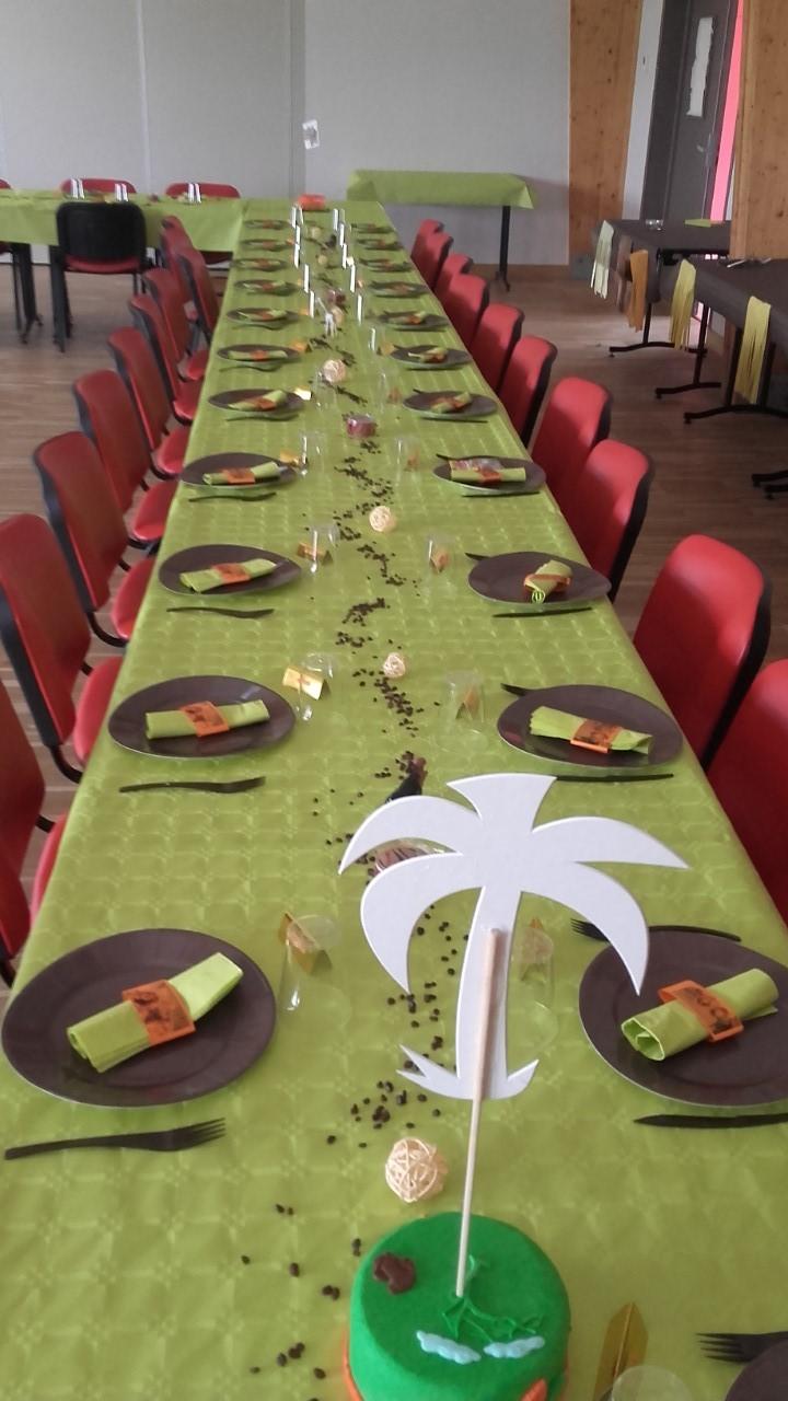 Décoration table Baptême théme jungle