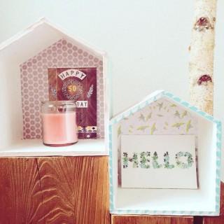 DIY: mes petites étagères maisons en bois!