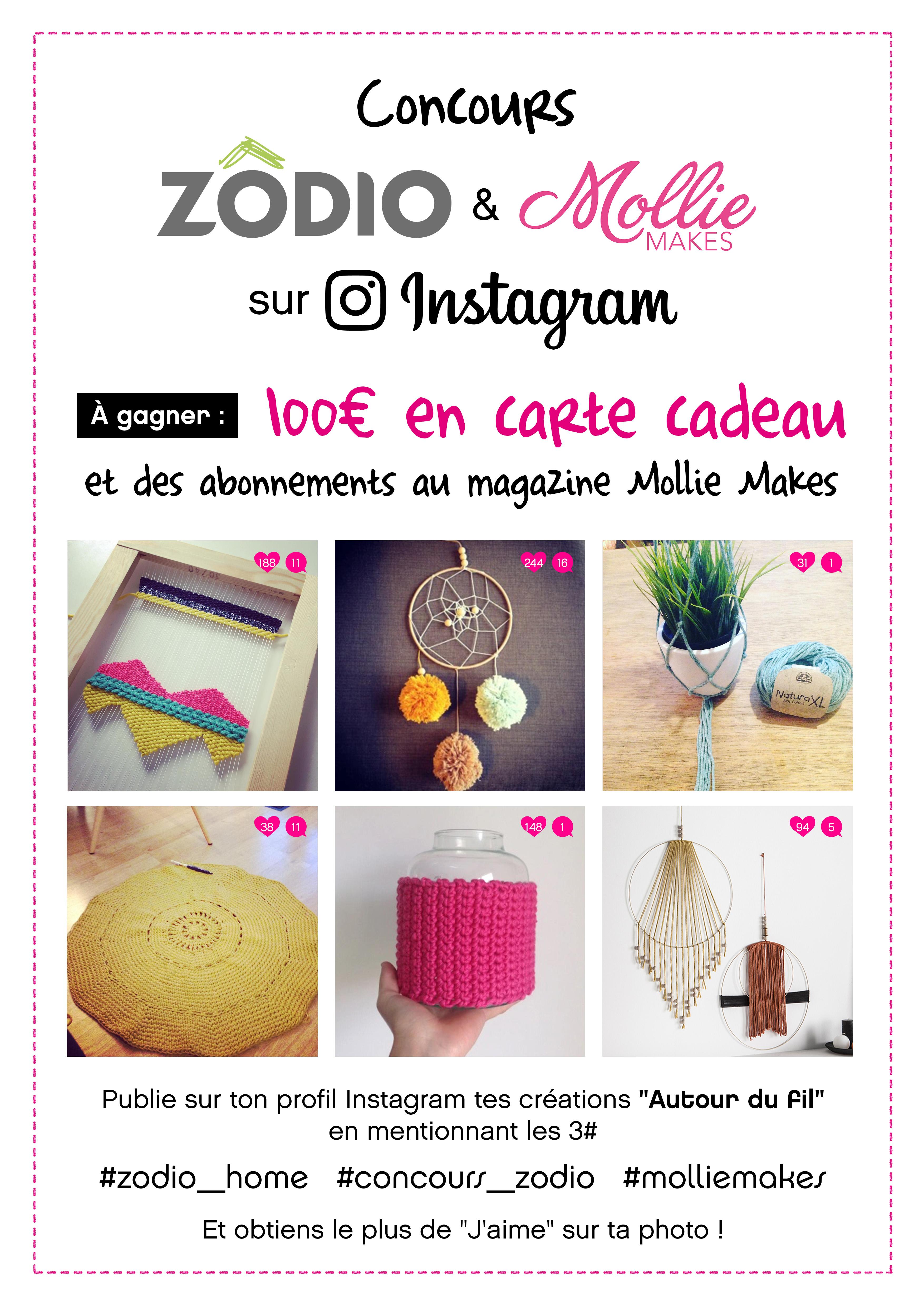 concours instagram autour du fil z dio x mollie makes blog z dio. Black Bedroom Furniture Sets. Home Design Ideas