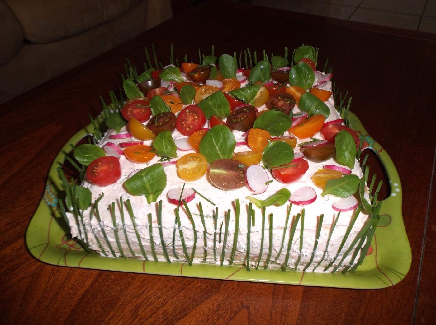 gâteau salé (sandwich cake)