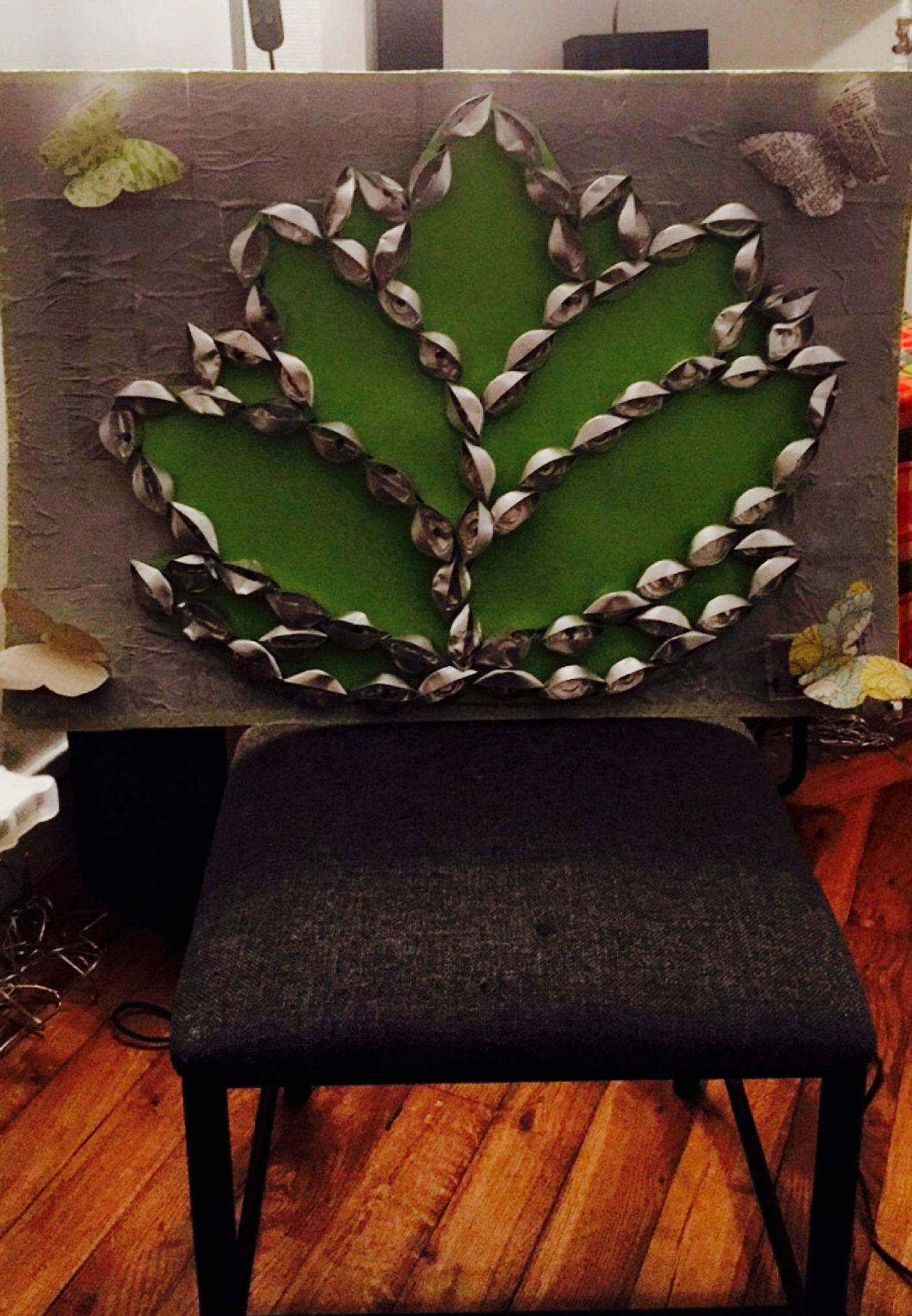 DIY déco murale fleur de lotus