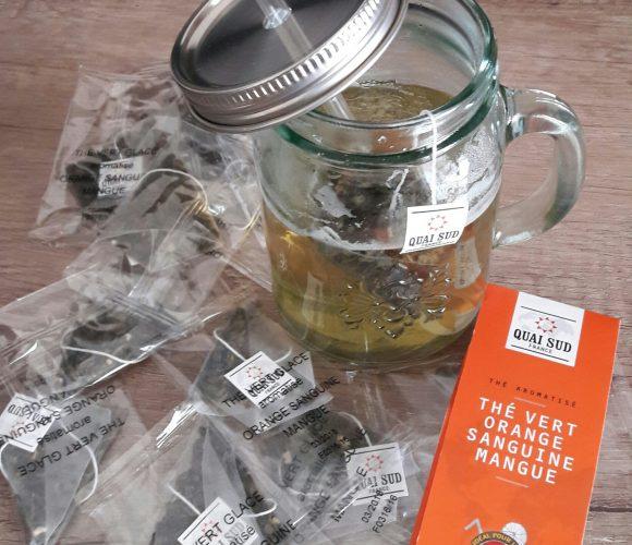 J'ai testé pour vous le mason jar thé vert arôme orange sanguine mangue de chez Quai sud