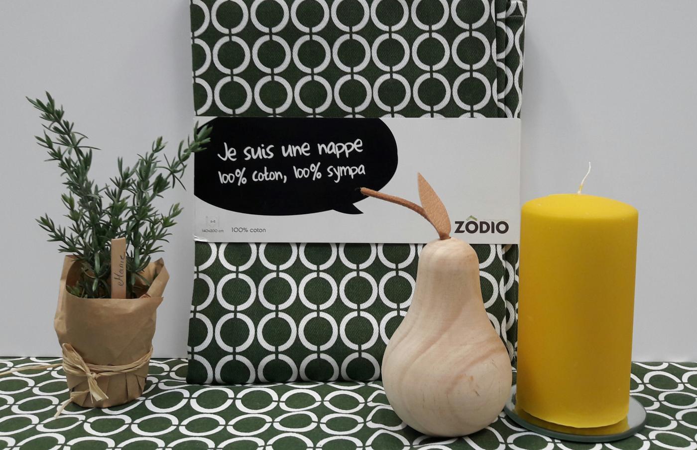 J'ai testé pour vous la nappe ZODIO KAKI (140 X 200)