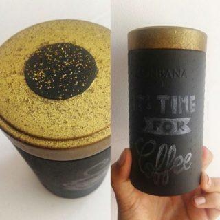 Le range dosettes ardoise ou comment recycler une boîte Monbana