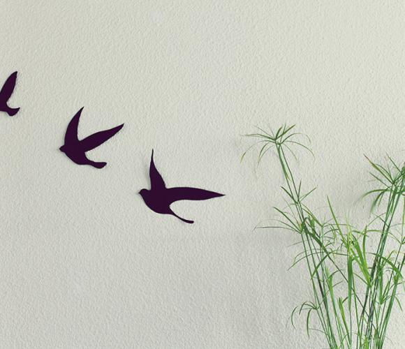 DIY oiseaux muraux