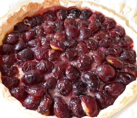 tarte aux prunes du jardin !
