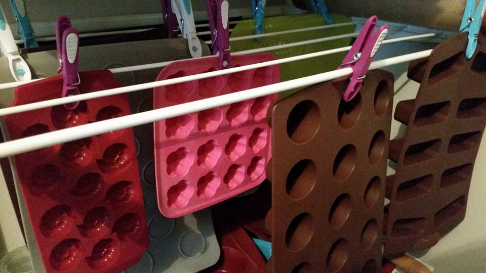 Astuce pour ranger vos moules en silicone