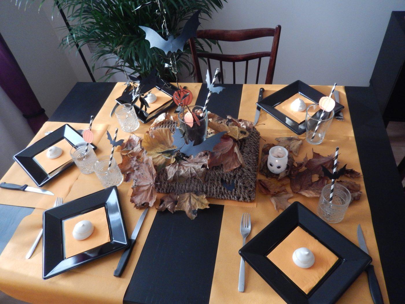 Ma table d'Halloween