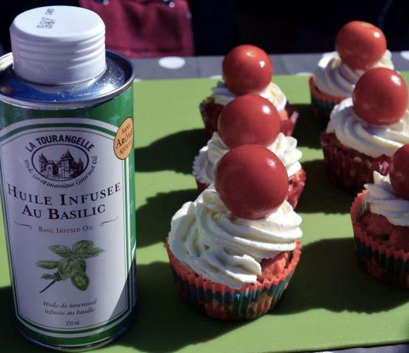 Cupcakes tomate & basilic