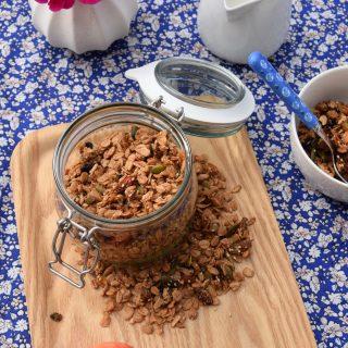 Granola aux fruits secs vegan