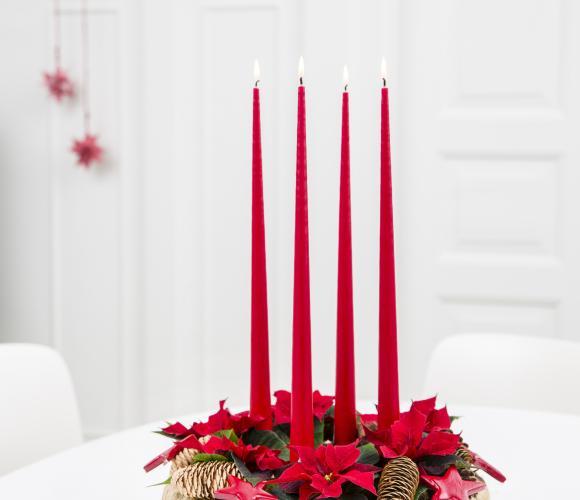 Couronne de Noël en Poinsettias