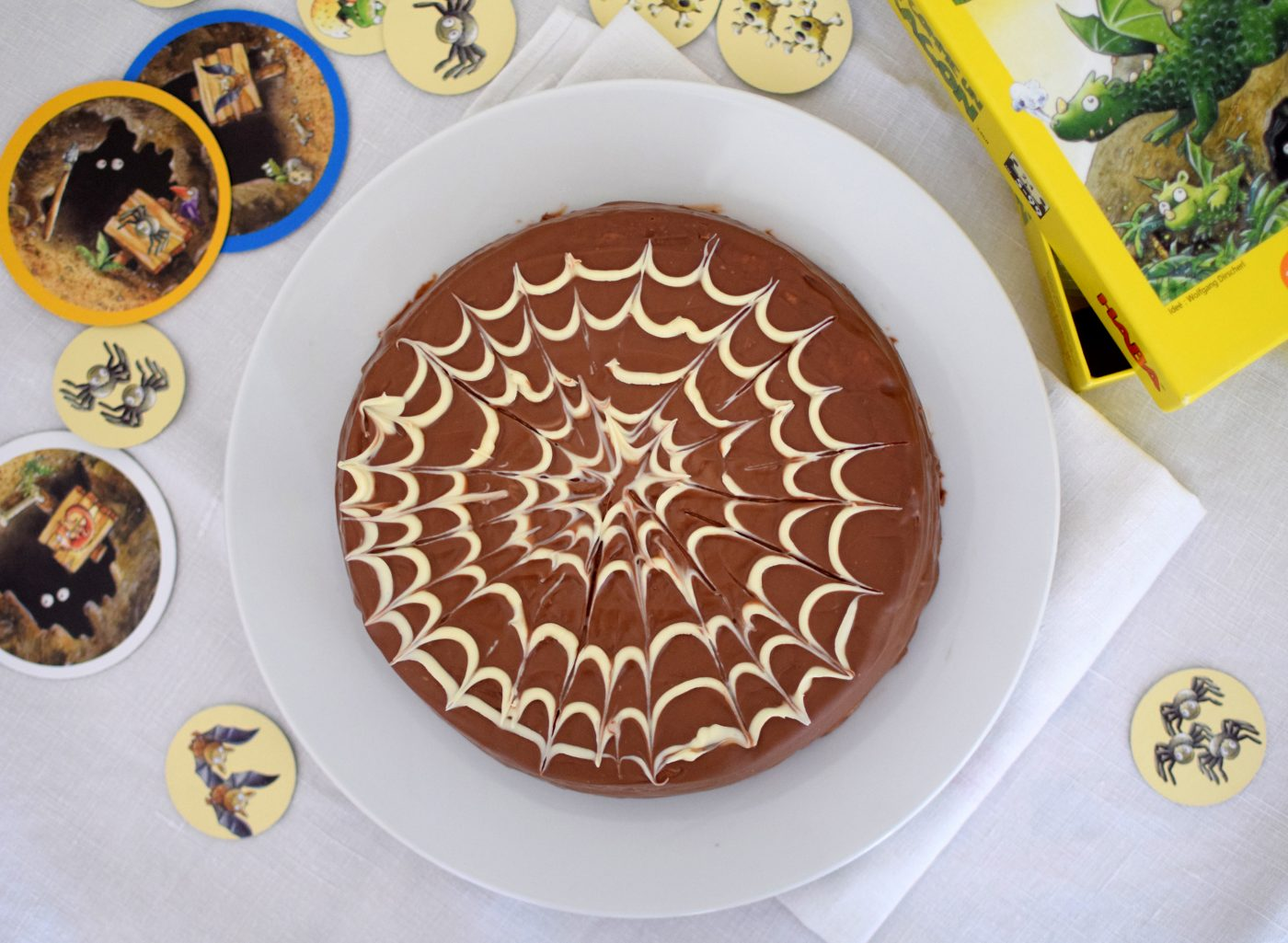 Gâteau choco araignée pour Halloween !