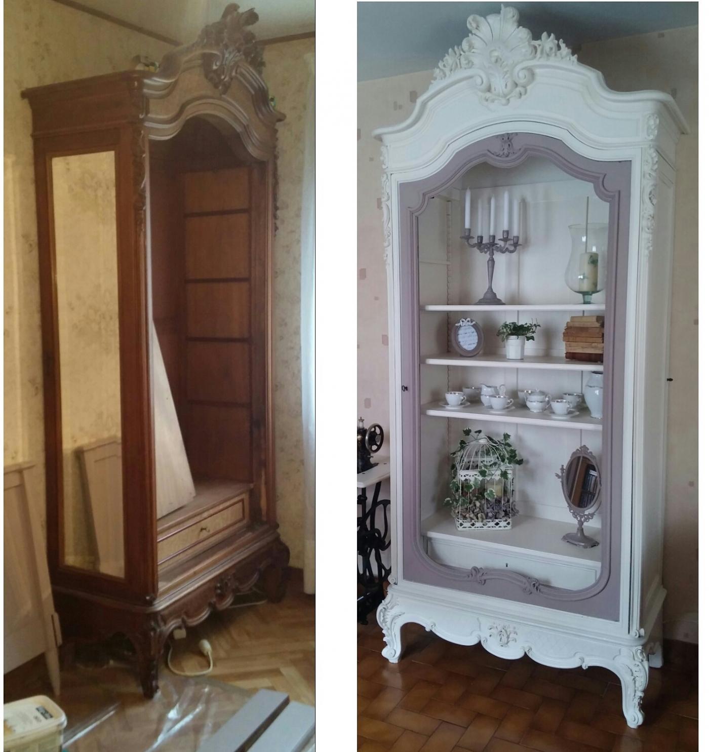 Avant-après vieille armoire