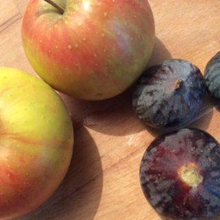 Tarte d'automne pomme et figue