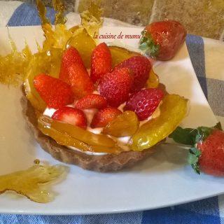 Tartelettes aux fraises et pommes caramélisées